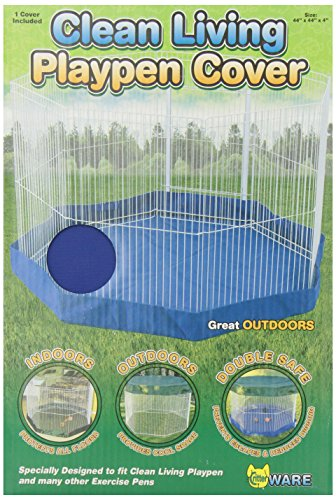 Ware Manufacturing Canvas Clean Living Small Pet Floor Cover, Small, Blue/Green (Playpen Cover compare prices)