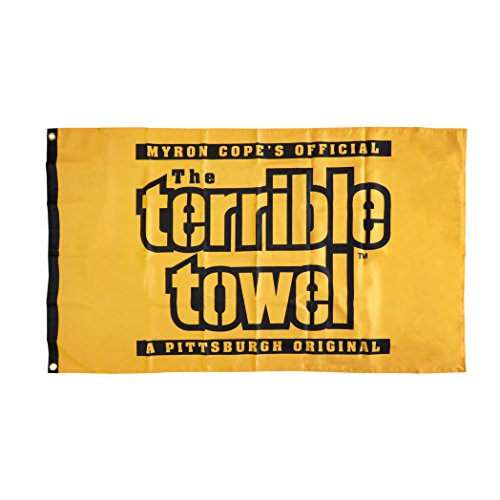 Pittsburgh Steelers Terrible Towel FLAG Indoor/Outdoor - One Sided - 3' X 5' by Steelers Wholesale