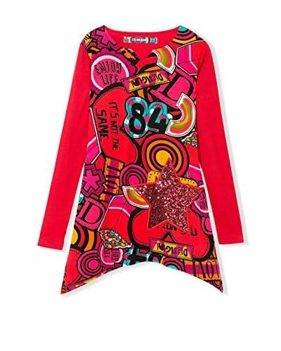 Desigual Camiseta Manga Larga Victoria Rojo