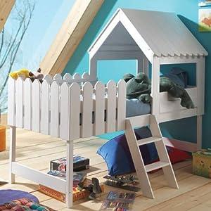 spielbett abenteuerbett hochbett baumhaus massivholz. Black Bedroom Furniture Sets. Home Design Ideas