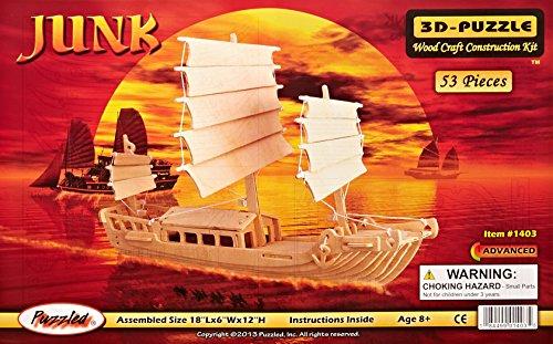 Puzzled, Inc. 3D Natural Wood Puzzle - Junk