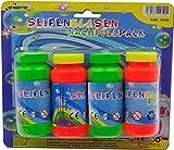 Seifenblasen Sparpaket: Batteriebetriebene LED SeifenblasenPistole mit Licht & Melodie + 6 Flaschen Seifenblasen Flüssigkeit - 4
