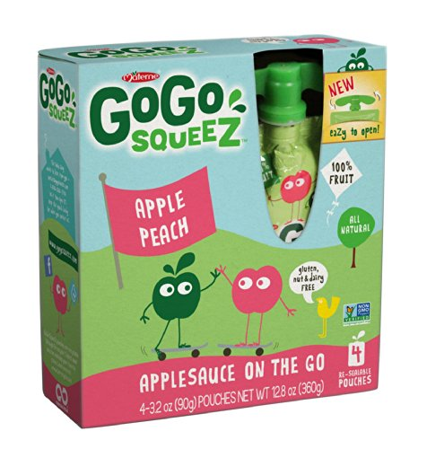 Gogo Squeez Applepeach, Applesauce On The Go, 3.2-Ounce Pouches (Pack Of 48)
