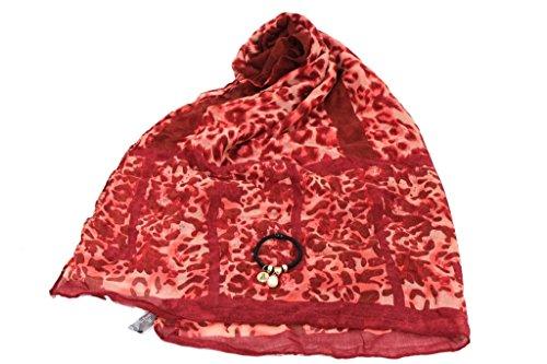 Sciarpa Donna Lancetti Pashmina In Box X9582 Rosso Moda Italiana