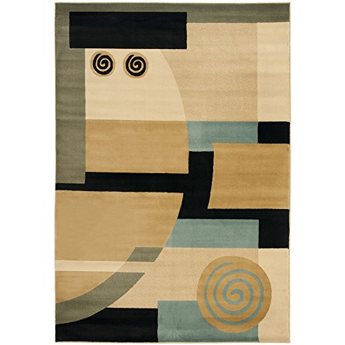 Safavieh Porcello Collection PRL6843-9091 Area Rug, 4-Feet by 5-Feet 7-Inch, Black and Multi