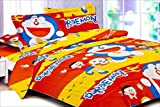 Snuggle Doremon Print Styled Single Bed Sheet