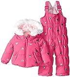 Weatherproof Baby-Girls Infant Foil Heart Print Puffer Snowsuit, Pink Moon, 24 Months