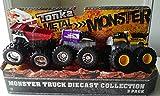 Tonka Metal Diecast Bodies Monster 3 Pack - Fire Truck Garbage Truck Cement Mixer Truck