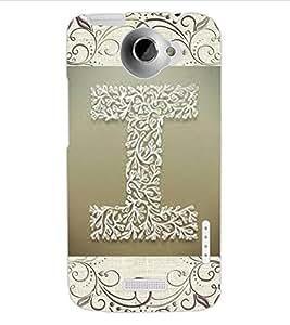 """ColourCraft Alphabet """"I"""" Design Back Case Cover for HTC ONE X"""