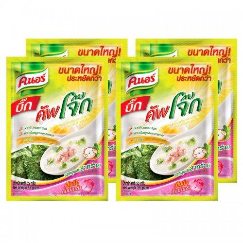 Knorr Big Cup Jok Instant Porridge, Seaweed pork flavored 55 g Pack 4 (Killer Tomato Seasoning compare prices)