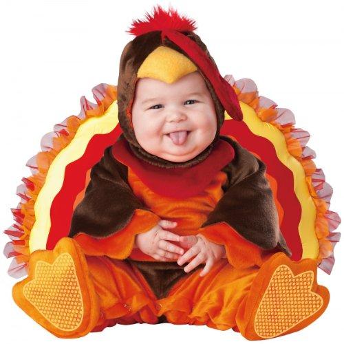 Lil Characters Unisex-Baby Newborn Gobbler Costume, Brown/Orange, 6 - 12 Months