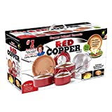 Red Copper Ceramic Non-Stick 10 Piece Cookware Set