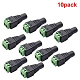inShareplus 10 Pack 5.5 X 2.1mm Barrel Power 12V DC Connector Female for CCTV Security Camera LED Strip