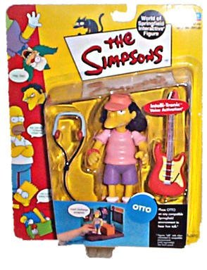 "Simpsons - World of Springfield Interactive Figures - Otto (5"") w/custom accessories"