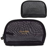 CHANEL シャネル コスメポーチ ポーチ 化粧ポーチ メッシュ ロゴ 小物入れ 2カラー 並行輸入品 AMI019