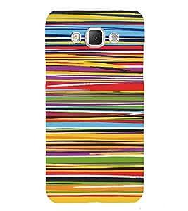 PrintVisa Color Stripes Pattern 3D Hard Polycarbonate Designer Back Case Cover for Samsung Galaxy Grand MAX