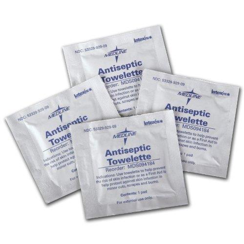 Antiseptic Towelettes - Antiseptic Towelettes, 5 1/2 x 8, BZK 1:750 and 18% Isopropyl Alcohol - 1,000 Per Case - Model MDS094184 kitcox70427sfc023803 value kit naturehouse fresh nap moist towelettes sfc023803 and glad forceflex tall kitchen drawstring bags cox70427