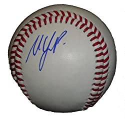 Matt LaPorta Autographed ROLB Baseball, Cleveland Indians, Milwaukee Brewers, Proof Photo