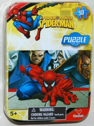 Spiderman 50-Piece Jigsaw Puzzle in a Tin - Chase by Marvel - 1