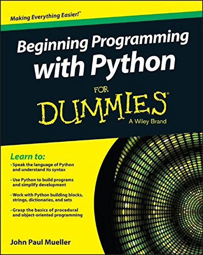 Beginning Programming with Python For Dummies