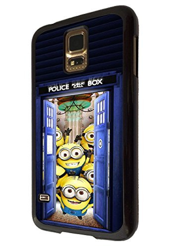 ZhouBrand Doctor Who Tardis Funny Funky Despicable Me Minions Cartoon Design Samsung Galaxy S5 Mini Comic CASE BACK Cover-Plastic&Metal (Doctor Who Samsung S5 Mini Case compare prices)