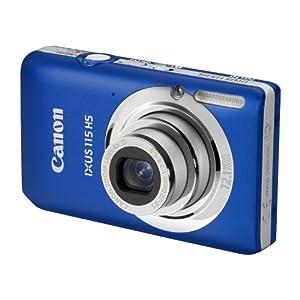 Canon IXUS 115 HS - Cámara Digital Compacta 12.1 MP (3 pulgadas LCD, 4x Zoom Óptico) - Azul (importado)