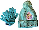Disney Frozen ~ PREMIUM SHINING RHINESTONES Hat & Gloves Set, Available in Pink and Blue