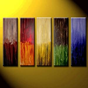 wall decor multi color oil painting hand painted wall art 5 piece