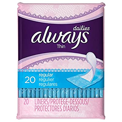 Thin Dailies Unscented Wrapped Liners 20 Count