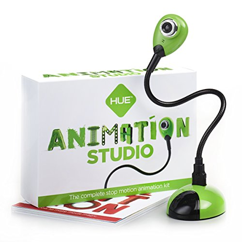HUE Animation Studio (Green) for Windows PCs and Apple Mac OS X: complete stop motion animation kit with camera, software and book (Stop Motion Animation Software compare prices)