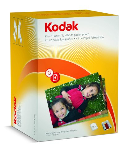 Kodak G200 Photo Paper Kit for G610 Printer Dock - 200 sheet