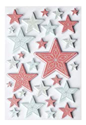 Martha Stewart Crafts Snow Lace Layered Star Stickers