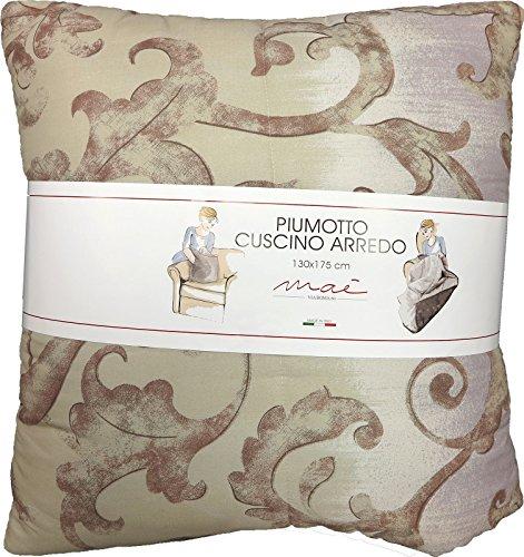Plaid trapuntato NEW BACH CM.130X175 VIA ROMA 60 -trasformabile in cuscino