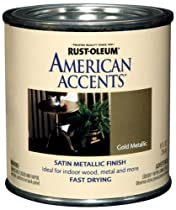 Rust-Oleum 7954730 American Accents 1/2 Pint Latex, Satin Gold Metallic