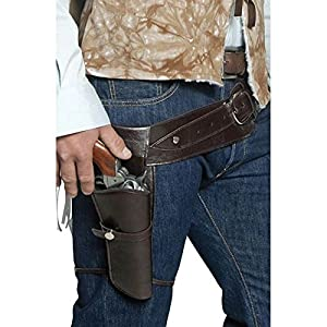 Smiffy's Men's Belt And Holster, Brown, One Size