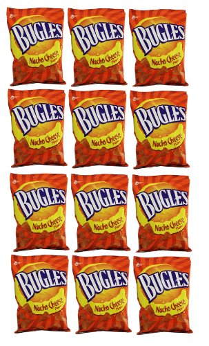 Delicious Treats Bugles Nacho Cheese 12 Bags of 3 Oz - Tj12 (Nacho Cheese Bugles compare prices)