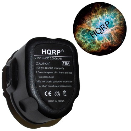 HQRP 2.0Ah Power Tools Battery for DeWalt DE9057 / DE9085 / DW9057 Replacement plus HQRP Coaster