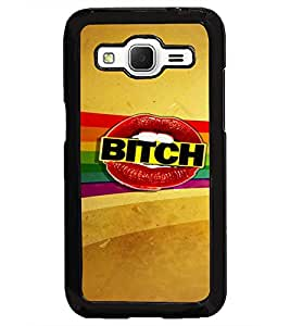 PrintDhaba Bitch D-5886 Back Case Cover for SAMSUNG GALAXY CORE PRIME (Multi-Coloured)