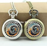 Pretty Lee Astronomical Clock Pocket Watch Memory Locket Necklace Vintage Pocket Watch Necklace