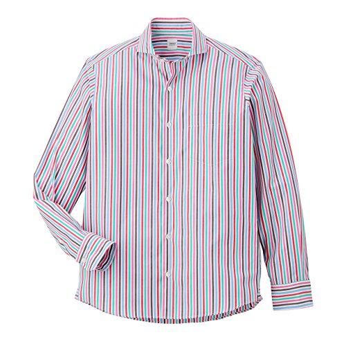 (タケオ キクチ)TAKEO KIKUCHI ブロードストライプホリゾンタルカラーシャツ ピンク系(370) 05(3L)