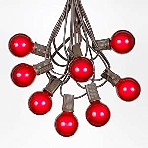 Amazon G40 Globe Outdoor String Lights With 25 Red