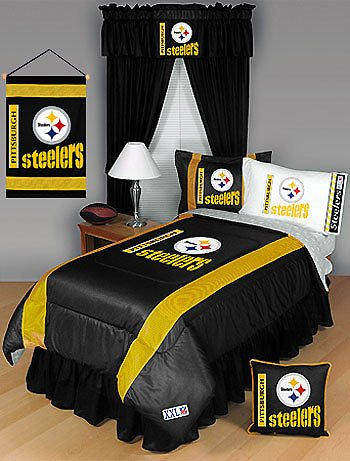 NFL Pittsburgh Steelers Comforter Set   Queen And Full Size Bedding