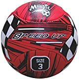 Speed Up Magic Leatherite Football - Size: 3, Diameter: 25 Cm (Pack Of 1, Multicolor)