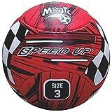 Speed Up Magic Leatherite Football - Size: 3, Diameter: 25 cm (Pack of 1, Multicolor)