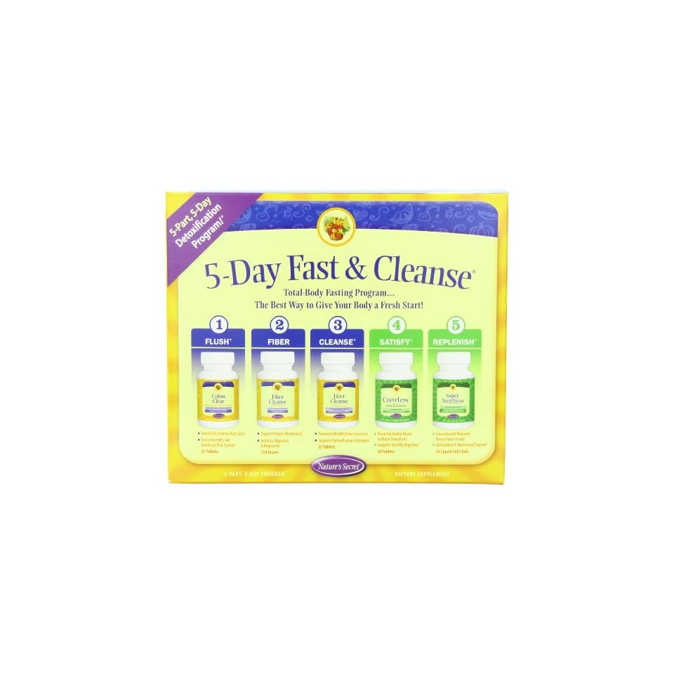 Natures Secret 5 Day Fast And Cleanse Kit
