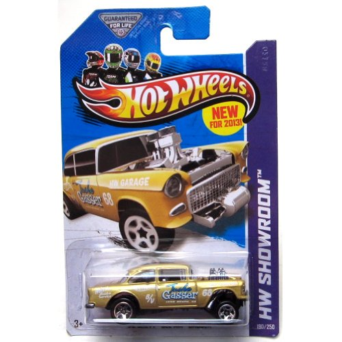 2013 Hot Wheels Hw Showroom - '55 Chevy Bel Air Gasser - Gold
