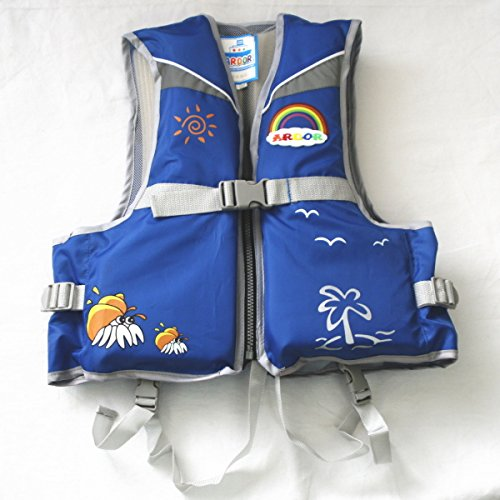 Children's life jackets crotch belt with floating best ARDOR blue (M)