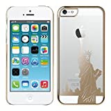 Kwmobile® Hard case City design (New York) for Apple iPhone 5 / 5S in Gold Transparent