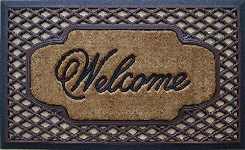 """Rubber & Coir Brush Doormat, Large Size: 23"""" X 38"""""""