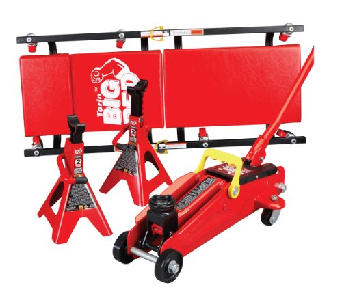 Find Discount Torin T82040 Trolley Jack with Jack Stand and Creeper